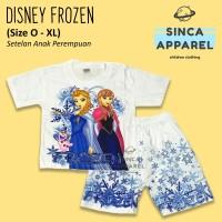 Baju Setelan Anak Cewek Perempuan [Set Kaos Celana] - Disney Frozen