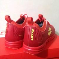Big Sale Terbaru Sepatu Futsal Lotto Original Spark In Solar Red