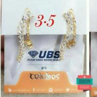 Promo Anting jepit emas asli kadar 875 rumbai Keren
