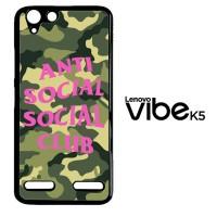 Casing Custom Lenovo Vibe K5 anti social social club logo camo Z4951