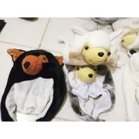 Topi/Kupluk Banie Hat Serigala/ Panda Anak