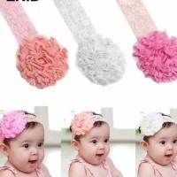 Bando bayi renda dan bunga cantik, baby headband head band newborn