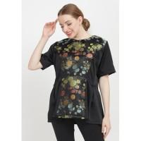 Batik Etniq Craft Baju Atasan Batik Wanita Irna Songket Top-Black