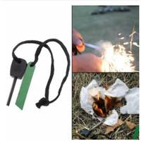 Fire Starter Batu Gesek Korek Pembuat Percikan Api Batang Magnesium