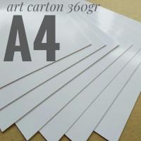 Kertas Art Carton 360 Gsm Uk A4. 21 cm X 29.7 cm
