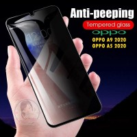 Tempered Glass Anti Spy OPPO A9 A5 2020 Privacy Screen Guard Anti Gore
