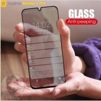 Tempered Glass Anti Spy Realme 5 Pro Privacy Screen Guard Anti Gores
