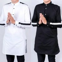 Baju Koko Kurta Lengan Panjang Gamis Qurta Keren