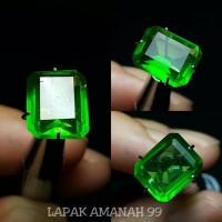 Batu Zamrud Kalimantan Octagon ,Emerald Top Green , I Like Colombia