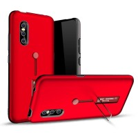 VIVO V15 Pro Silicone Ring Stand Luxury Soft Gel Rugged Armor Case
