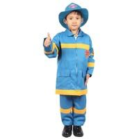 Kostum anak - Baju Profesi anak - Kostum Pemadam Kebakaran Biru