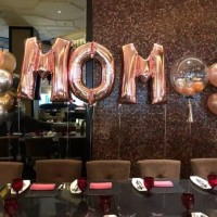 Balon Foil Huruf Rose Gold 100cm