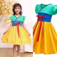 Kostum mulan disney princess dress imlek chinese anak cosplay import