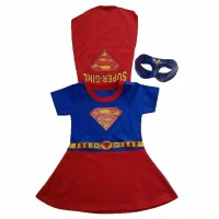 Baju Kostum Superhero Anak Perempuan SUPERGIRL