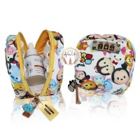 Lux Mini Round Essential Oil Pouch Bag Printed Baby Canvas Disney tsum