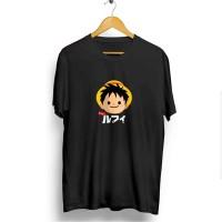 Kaos Baju Distro Grosir dan Ecer Keren Motif Luffy Japan