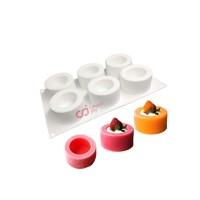 CJ Cetakan Silikon Cake Kue Bolu Puding Jelly Craft Cup Shape 6 Cavity