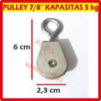 "Pully Pulley Polly Puli Kerekan Katrol 7/8"" 7/8 inch inc kecil plastik"