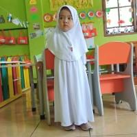 HAURA BUSANA Baju muslim Gamis Anak Putih Polos Manasik