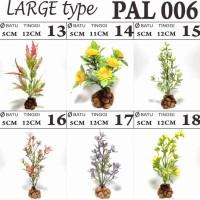 PAL 006 tanaman pohon bunga palsu sintetis hiasan aquarium aquascape