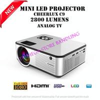 Proyektor Projector Cheerlux C9 Built in TV Tuner 2800 Lumens