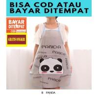 DP038 Celemek Anti Air Karakter Animal / Celemek Apron - Panda
