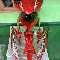 cover body full halus motor Honda Vario cw 110 karbu lama warna merah