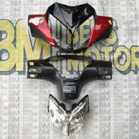 batok kepala depan belakang motor supra x 125 berikut lampu