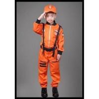 Kostum Astronot Orange anak 8 s/d 10 Tahun-Baju Profesi Astronot - 8-9 tahun