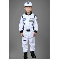 Baju Astronot Putih anak usia 8 s/d 10 Th- Kostum astronot anak putih - 8-9 tahun