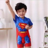 Baju Renang Anak Karakter/Baju Renang Anak Cowok/Baju Renang Superman