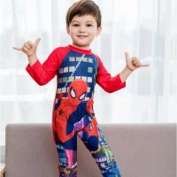 Baju Renang Tangan Panjang/Baju Renang Anak Karakter Spiderman A