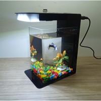 Betta Fish Tank, Aquarium Mini Akrilik, Soliter akrilik, Aquarium mini