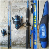 Set Pancing Laut Reel Maguro Joran Kekutan 60 kg Edisi Blue