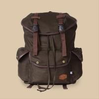 Tas Kanvas Vintage Backpack handmade Divinces - army warrior series