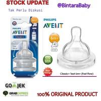 Philips Avent Teat Nipple Classic+ 6m+ fast flow/ Dot botol susu avent