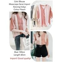 shirt kemeja atasan baju wanita ibu menyusui blouse bluss korea import