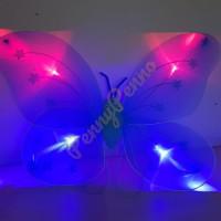 Sayap Peri Nyala/ Sayap kupu2 1 set (sayap, Tongkat, Bando)