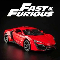 Miniatur Diecast Skala 1:32 Mobil Lykan Hyper Sport versi Fast Furious