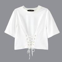 Fashion Wanita Baju Atasan Crop Fashion Ikat Tali #54310