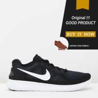 Sepatu Running Original Nike Free RN 2017 W - Black/Dark Grey