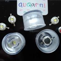 lensa led hpl 30 drajat transparan senter bioglass aquascap parled