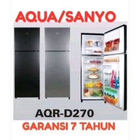 PROMO...KULKAS AQUA SANYO JAPAN AQR-D270 NEW/Lemari es 2 pintu /MURAH