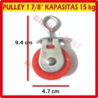 Pully Pulley Polly Puli Kerekan Katrol 1 7/8 Sedang Plastik