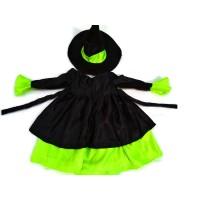Kostum Penyihir anak Hijau-Baju kostum karakter penyihir-Baju karnaval