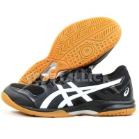 Sepatu Badminton / Voli / Indoor Court Asics Gel Rocket 9 Black - 8