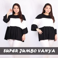 Super Jumbo Vanya Blouse Bigsize Baju Atasan Wanita Spandex Rayon
