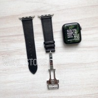STRAP APPLE WATCH iWATCH LEATHER BUCKLE BUTTERFLY HERMES SERIES 3 4 5