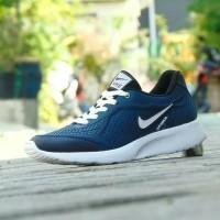 Sepatu Nike Air Max Fullblack Hitam Polos Sekolah Pria Wanita Murah - Warna No Dua, 39