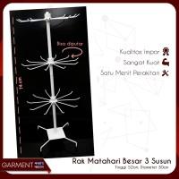 RAK DISPLAY MATAHARI PUTAR 3 SUSUN TEBAL IMPOR SURABAYA